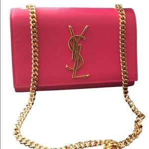 Pink and Gold YSL Shoulder Bag